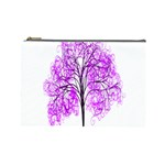 Purple Tree Cosmetic Bag (Large)  Front