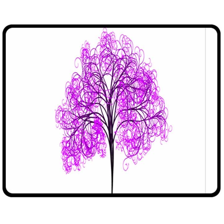 Purple Tree Fleece Blanket (Medium)