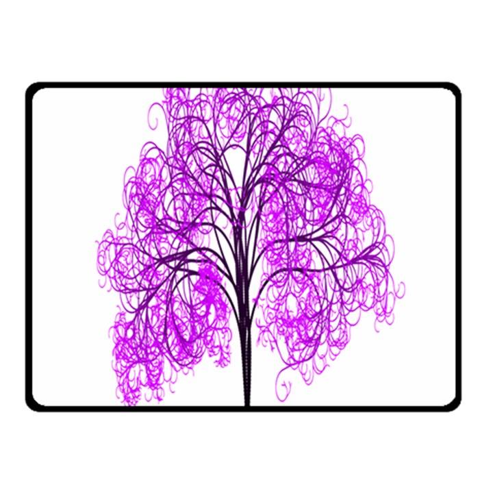 Purple Tree Fleece Blanket (Small)