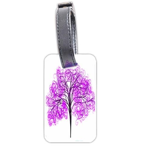 Purple Tree Luggage Tags (One Side)