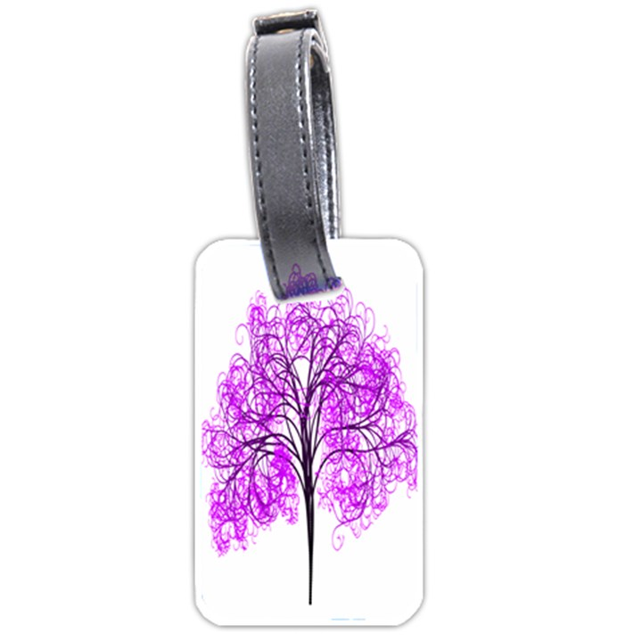 Purple Tree Luggage Tags (Two Sides)