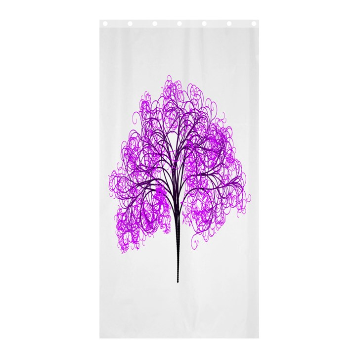 Purple Tree Shower Curtain 36  x 72  (Stall)