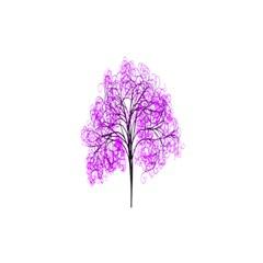 Purple Tree Shower Curtain 48  x 72  (Small)
