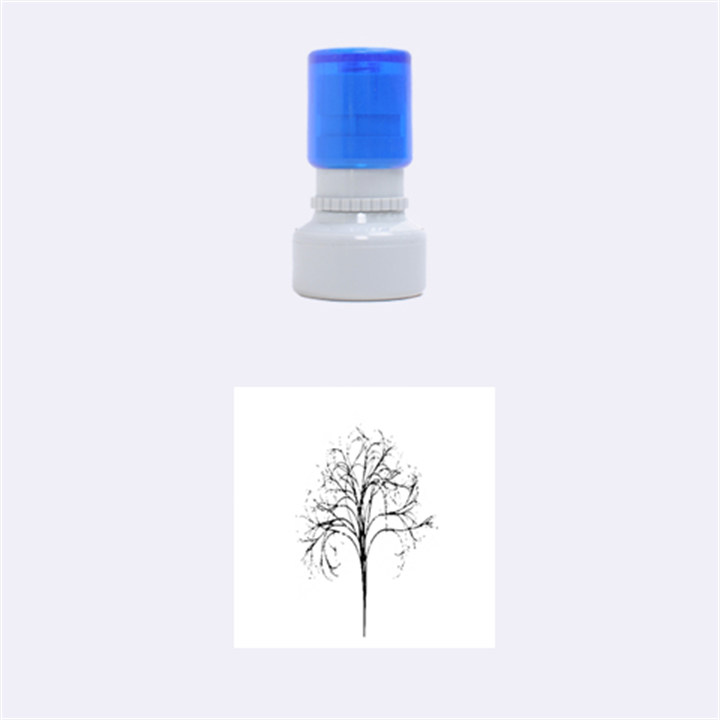 Purple Tree Rubber Round Stamps (Small)