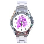 Purple Tree Stainless Steel Analogue Watch Front