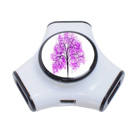 Purple Tree 3-Port USB Hub