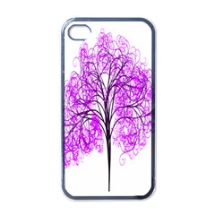 Purple Tree Apple iPhone 4 Case (Black)
