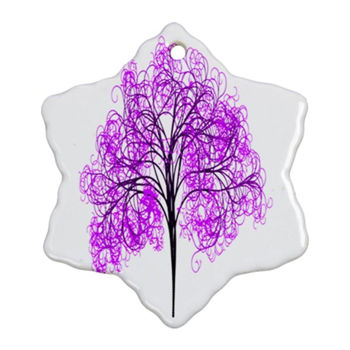Purple Tree Ornament (Snowflake)