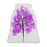 Purple Tree Bell Ornament (2 Sides) Back