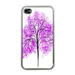 Purple Tree Apple iPhone 4 Case (Clear) Front