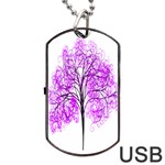Purple Tree Dog Tag USB Flash (Two Sides)  Front