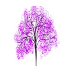 Purple Tree Deluxe Canvas 14  x 11  14  x 11  x 1.5  Stretched Canvas