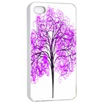 Purple Tree Apple iPhone 4/4s Seamless Case (White) Front