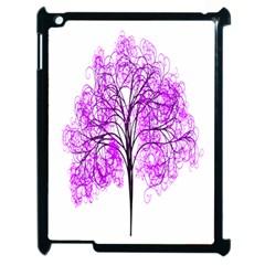 Purple Tree Apple iPad 2 Case (Black)