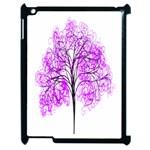Purple Tree Apple iPad 2 Case (Black) Front