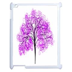 Purple Tree Apple iPad 2 Case (White)
