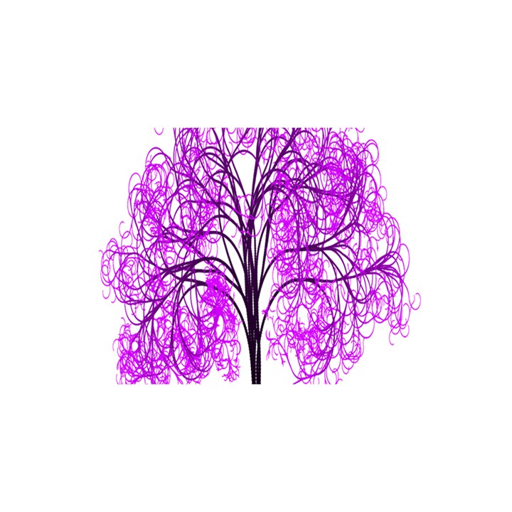 Purple Tree YOU ARE INVITED 3D Greeting Card (8x4)