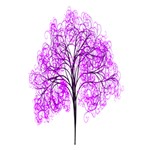 Purple Tree Peace Sign 3D Greeting Card (7x5) Inside