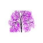 Purple Tree #1 DAD 3D Greeting Card (8x4) Back