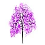 Purple Tree Ribbon 3D Greeting Card (7x5) Inside