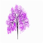Purple Tree Small Garden Flag (Two Sides) Back