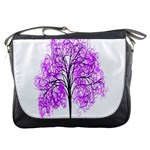 Purple Tree Messenger Bags Front