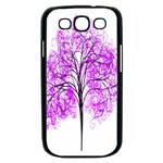 Purple Tree Samsung Galaxy S III Case (Black) Front