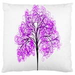 Purple Tree Large Cushion Case (One Side) Front