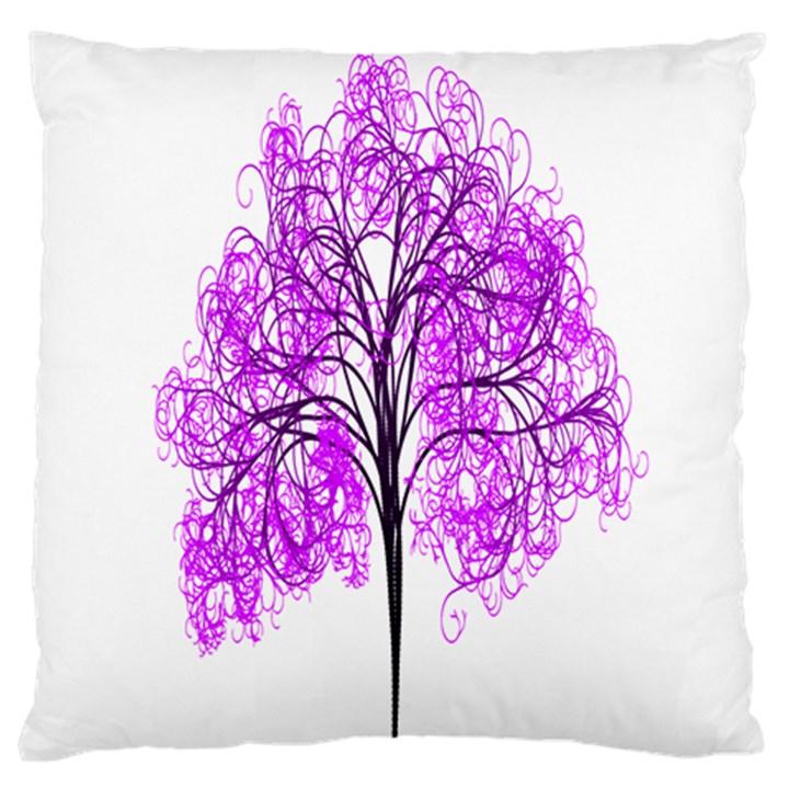 Purple Tree Large Cushion Case (One Side)