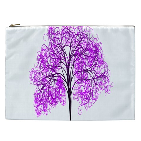 Purple Tree Cosmetic Bag (XXL)