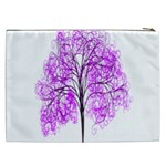 Purple Tree Cosmetic Bag (XXL)  Back
