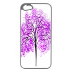 Purple Tree Apple iPhone 5 Case (Silver) Front