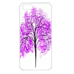 Purple Tree Apple iPhone 5 Seamless Case (White)