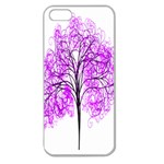 Purple Tree Apple Seamless iPhone 5 Case (Clear) Front