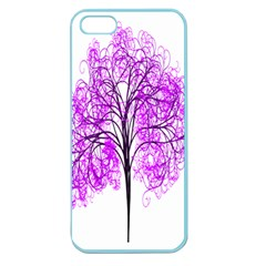 Purple Tree Apple Seamless iPhone 5 Case (Color)