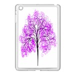 Purple Tree Apple iPad Mini Case (White) Front