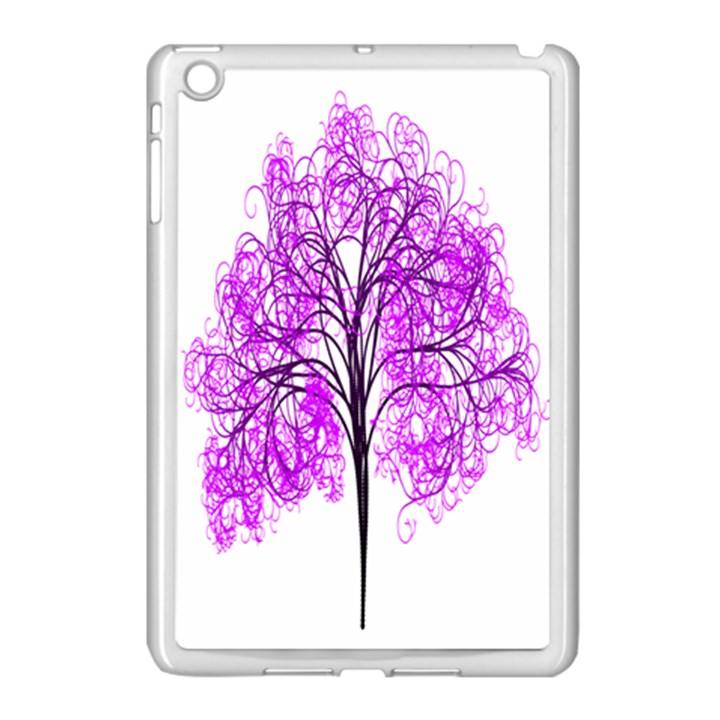 Purple Tree Apple iPad Mini Case (White)