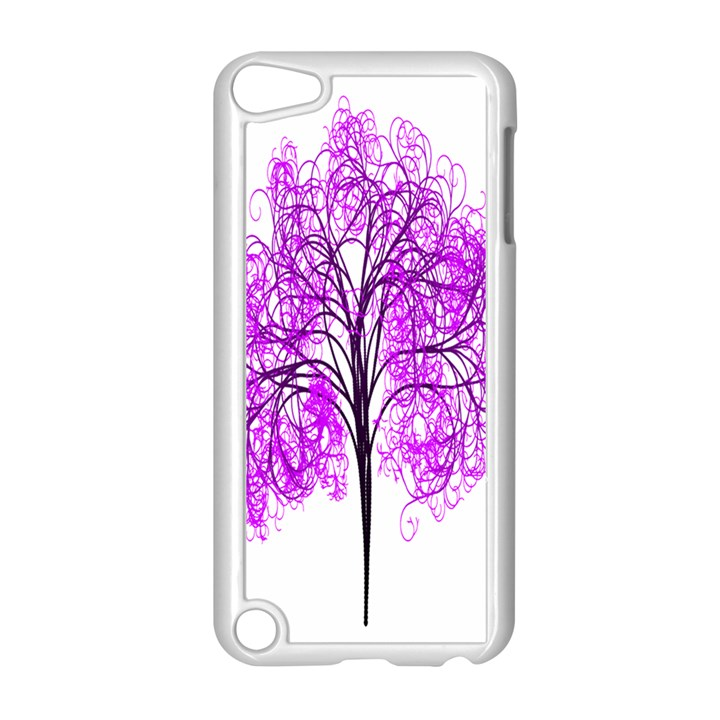 Purple Tree Apple iPod Touch 5 Case (White)