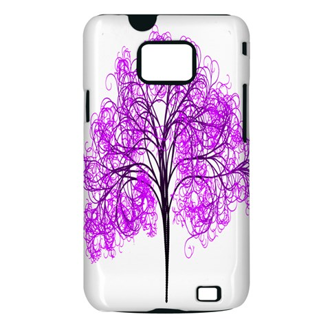 Purple Tree Samsung Galaxy S II i9100 Hardshell Case (PC+Silicone)