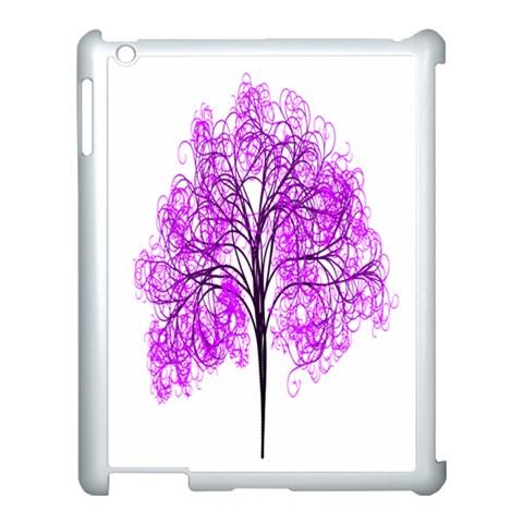 Purple Tree Apple iPad 3/4 Case (White)