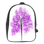 Purple Tree School Bags (XL)  Front