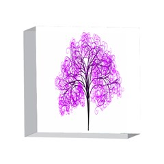 Purple Tree 4 x 4  Acrylic Photo Blocks