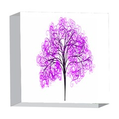 Purple Tree 5  x 5  Acrylic Photo Blocks