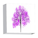 Purple Tree 5  x 5  Acrylic Photo Blocks Front