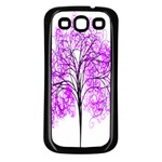 Purple Tree Samsung Galaxy S3 Back Case (Black) Front