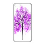 Purple Tree Apple iPhone 5C Seamless Case (White) Front