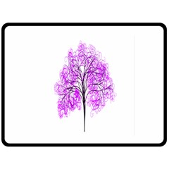 Purple Tree Double Sided Fleece Blanket (Large)