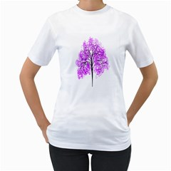 Purple Tree Women s T-Shirt (White)