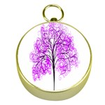 Purple Tree Gold Compasses Front