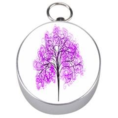 Purple Tree Silver Compasses